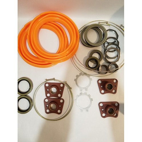 2.5 TON FRONT AXLE OVERHAUL KIT WITH ORANGE BOOTS M35 M35A1 M35A2 MILITARY