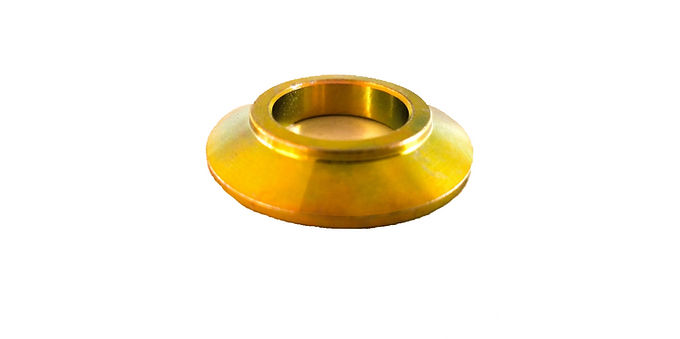 """3/4"""" BORE CONE SPACER .250"""" THICK ZINC COATED MILD STEEL EACH"""