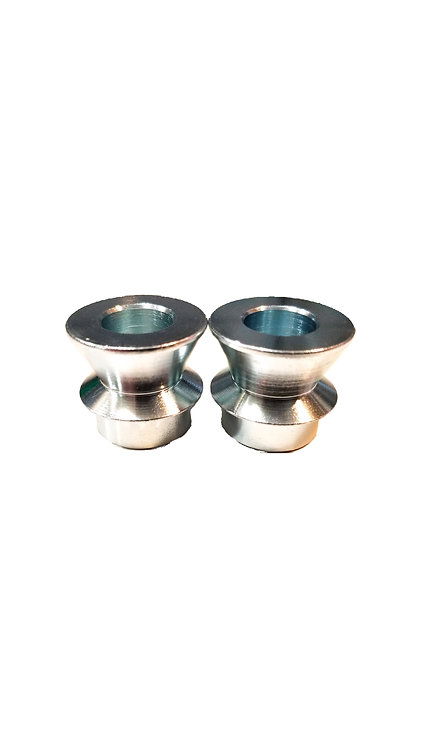 """3/4""""-1/2"""" High Misalignment Spacers zinc coated mild steel 2"""" mounting width"""