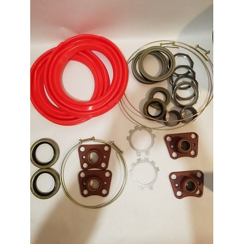 2.5 TON FRONT AXLE OVERHAUL KIT WITH RED BOOTS M35 M35A1 M352 MILITARY