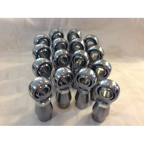 "FULL SET (16) 3/4"" X 3/4"" HEIMS, BUNGS, AND JAM NUTS (8 LH AND 8 RH)"
