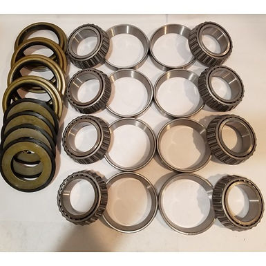 5 TON 2 AXLE HUB BEARING AND SEAL KIT WITH 4 INNER SEALS AND 4 OUTER SEALS