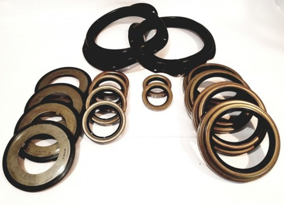 5 TON AXLE 16 PC BLACK BOOT KIT WITH ALL SEALS M809 M939 M54
