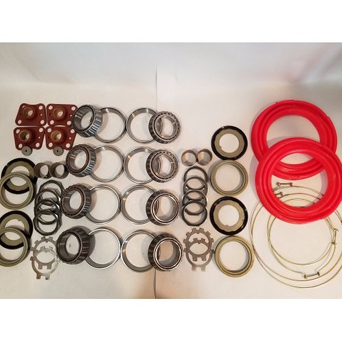 2.5 TON STEER AND REAR AXLE HUB/KNUCKLE OVERHAUL KIT WITH RED BOOTS M35 M35A1 M35A2 MILITARY