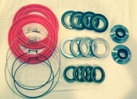 2.5 TON 20 PC RED BOOT AND SEAL KIT M35 M109 MILITARY MUD CRAWLER 4X4