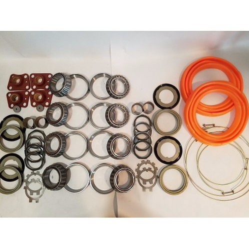 2.5 TON STEER AND REAR AXLE HUB/KNUCKLE OVERHAUL KIT WITH ORANGE BOOTS M35 M35A1 M35A2 MILITARY
