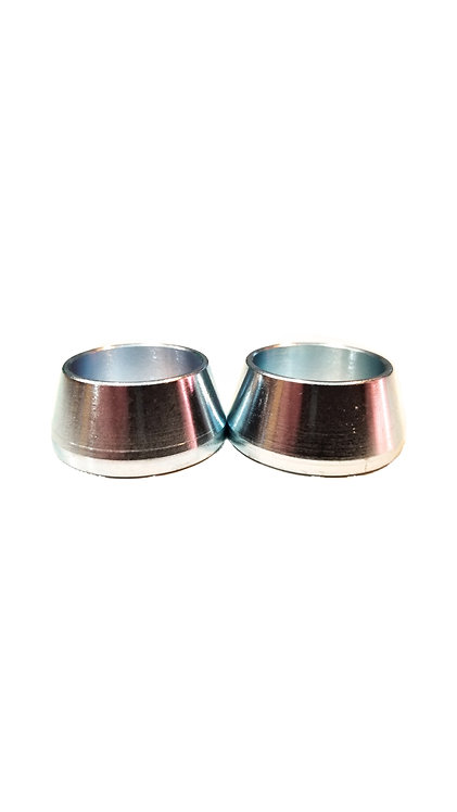 """7/8"""" ID Misalignment Spacer Zinc Plated Steel 2"""" Inch Mounting Width 14-.560"""