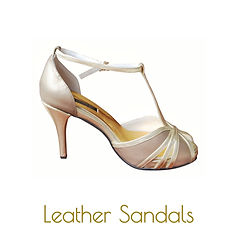 Copper and gold sandals