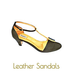 Leather gold sandals