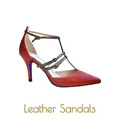 Red pointy sandals