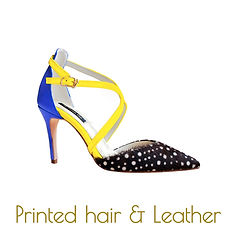 Printed hair sandals