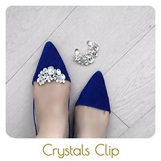 Crystals shoe clips