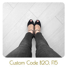 black lace platforms