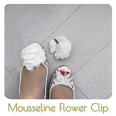 White flower shoe clips