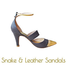 Brown snake and gold sandals