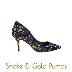 Snake and gold stilettos