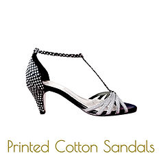 printed dots sandals