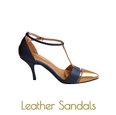 Pointy gold sandals