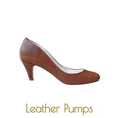 Brown pumps