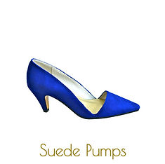 blue pointy pumps