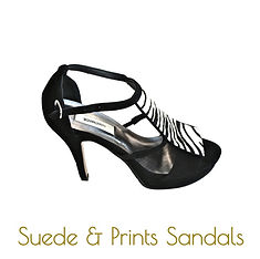 zebra platform sandals