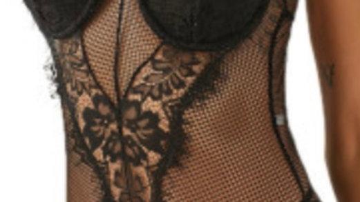 Black Laced Bodysuit