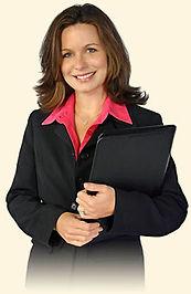 receptionist, professional woman
