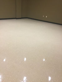 clean floor, stripped VCT, waxed floor