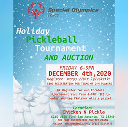 Special Olympics Pickleball Tourney 2020