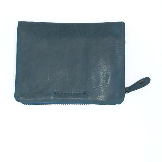 Small Teal leather wallet
