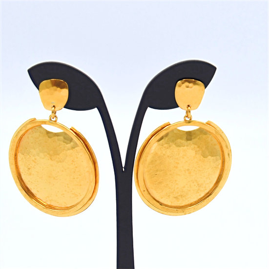 Evelyn Knight disc earrings