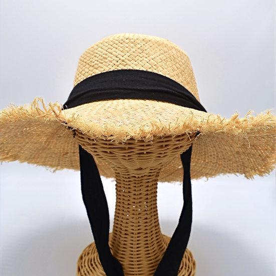 crushable black tie floppy hat