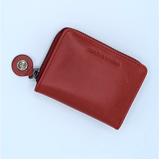 Small chili leather wallet