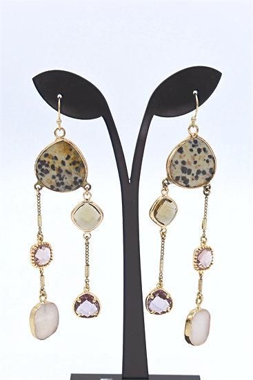 Nakomal multi drop earring