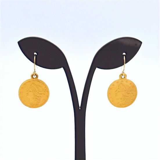 Meridian Turkish coin earrings