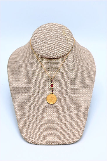Meridian Ruby coin nechlace