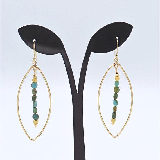 Meridian Turquoise teardrop earring
