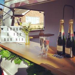 champagne at caravan bar