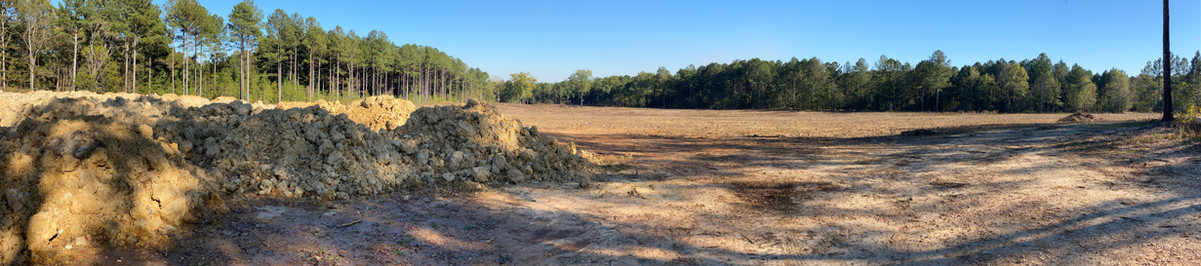 Ground Being Tilled For Tree Farm