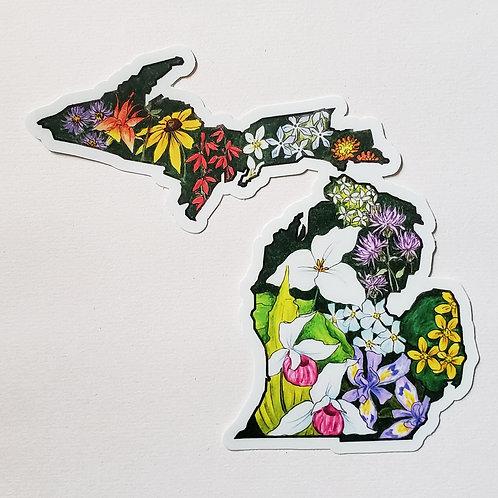 Michigan Wildflower Sticker