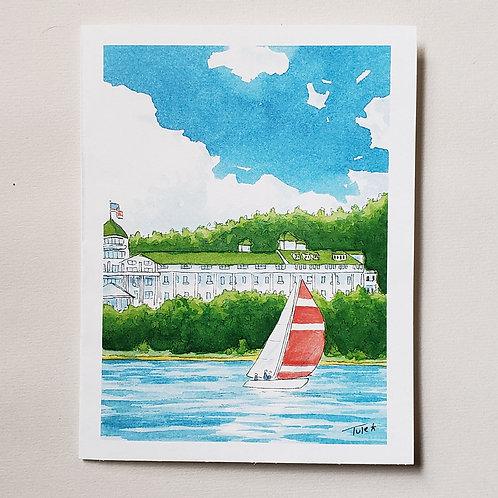 Grand Sailing Greeting Card