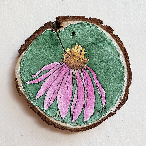 Purple Cone Flower Ornament