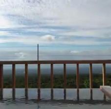 屋上露天風呂雲の流れ