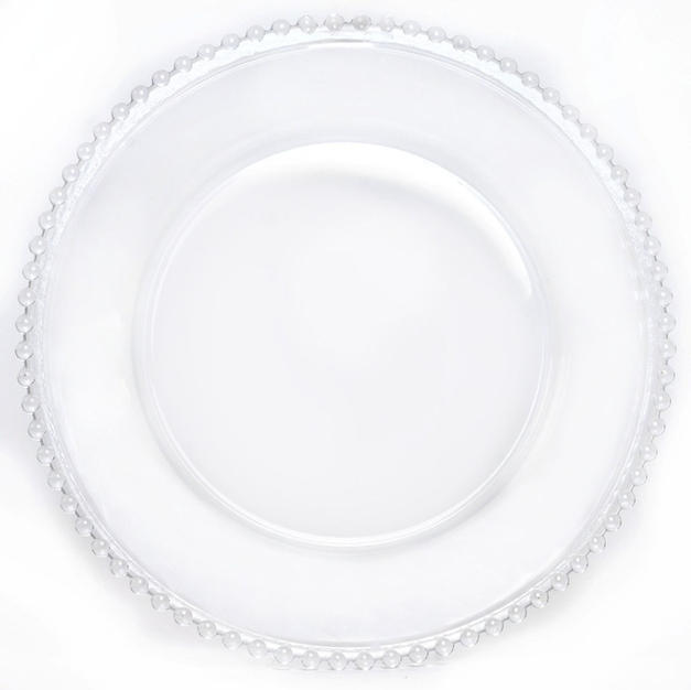 Glass Clear Charger Plate