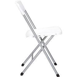 White Folding Chair Chrome Legs $1.25 each