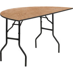 60 inch Half Round Table