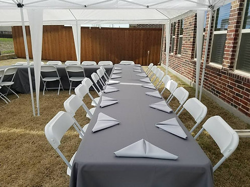 Rental 60 Guests - Folding Chairs and Dinnerware