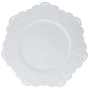 White Doily Charger