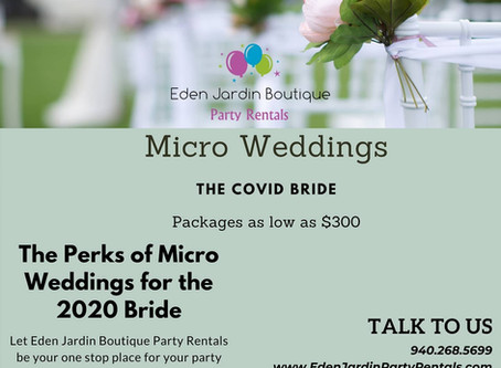 The Perks of Micro Weddings for the 2020 Bride