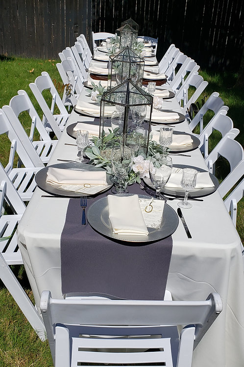 Rental 20 Guests - White Garden (Slatted) Chairs Upgrade